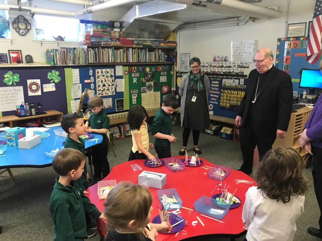 Bishop Deeley visits Kindergarten
